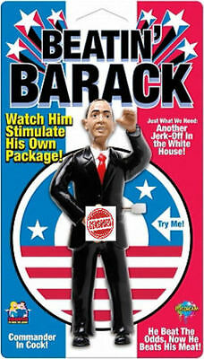Beatin' Barack Obama WindUp Watch him Stimulate his own Package Naughty Gag Gift