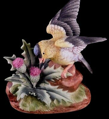 Andrea By Sadek Porcelain Bird Figurine: Goldfinch by Andrea