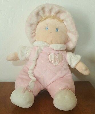 First Impressions MY FIRST DOLL Pink Blonde Plush Stuffed Animal Baby Girl Toy