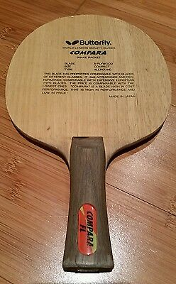 Butterfly Black Tag COMPARA FL Rare Table Tennis Blade.