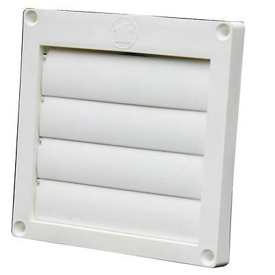 "Speedi-Products 4"" Louvered Plastic Flush Exhaust Hood Dryer Bathroom Fan Vent"