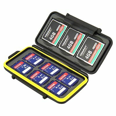 JJC Water-resistant Hard Storage Memory Card Case For 6 SD + 3 CF Cards NEW