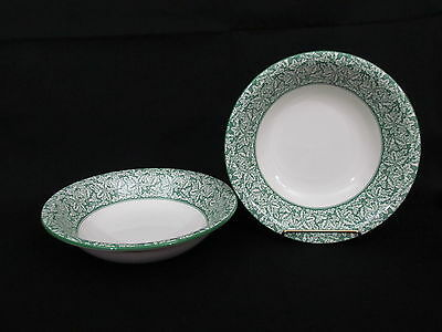 """Set Of 2 Spode Holly Tree Cereal Bowls 8 1/8"""""""