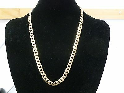 9CT Yellow Gold Unisex Curb Flat Link Chain