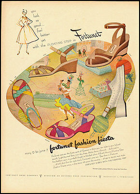 1952 Vintage ad for Fortunet Shoes, Fortunet Shoe Company (072912)