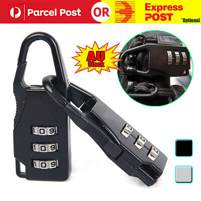 2Pcs Travel Luggage Suitcase Combination Lock Padlocks Password Digit Code