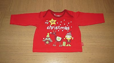 T-shirt longues manches MARKS &SPENCER  My 1 st Christmas ( Mon 1er Noël)