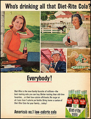 1965 Vintage ad for diet-rite cola, sugar free  (072512)