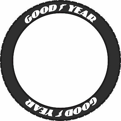 """Tire Lettering. Raised White Letters. Good Year 1"""""""