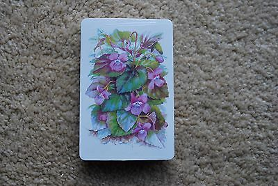 Flowers Purple Playing Cards New Sealed