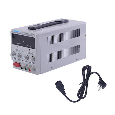 30V 10A 110V Precision Variable DC Power Supply +Clip Cable Digital Adjustable S