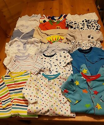 0-3 months baby boys sleepsuit bundle massive all sets 21 sleepsuits