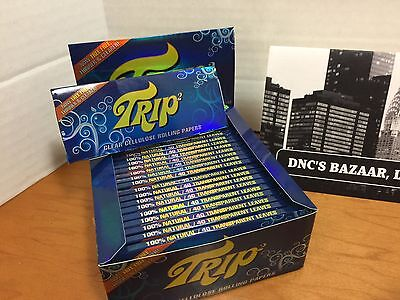 King Size Trip 2 Clear Cellulose Transparent Cigarette Rolling Papers