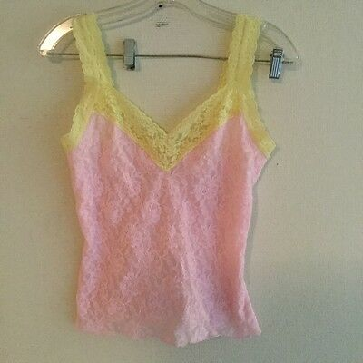 Hanky Panky Camisole Signature Lace Pink/Yellow Large