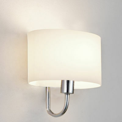 Glass Wall Light Diamante Frosted Oval Glass Lighting