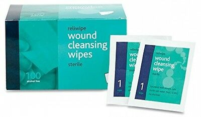 Reliance Medical Reliwipe Sterile Wound Cleansing Wipes - Pack Of 100