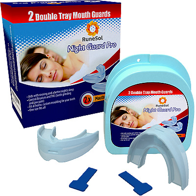 Teeth Grinding Mouthguard - Stop Snoring Aid (2) - Bruxism Teeth Clenching Cure