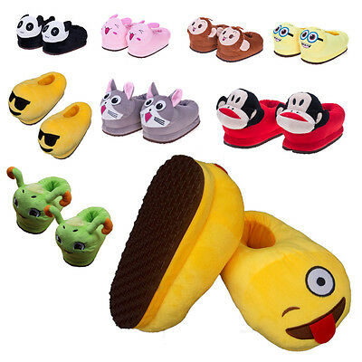Household Mens Womens Plush Unicorn Slippers Winter Warm Indoor Comfort Shoes