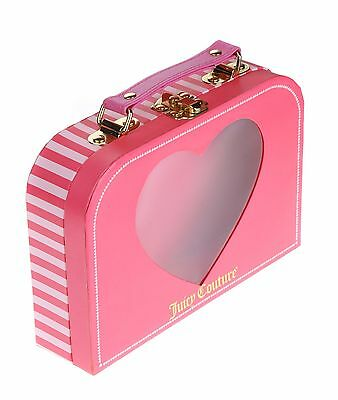 Juicy Couture Pink Stripe Heart Window Doll Clothes Handle Girls Box Purse Case
