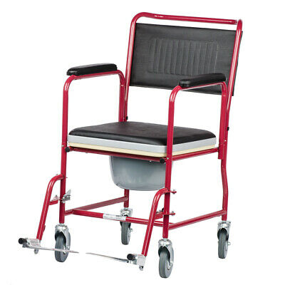 Viva Medi Wheeled Commode Chair with Brakes