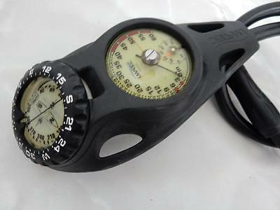 UWATEC 3 in 1 Console Contents,Depth Gauges and Compass  Excellent Condition