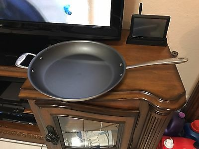 "All-clad Tk 14"" Fry Pan Brushed Nickel (non Stick)not Factory Box"