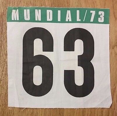 1973 Cycling World Road Race Championship (Barcelona) Back Number 63