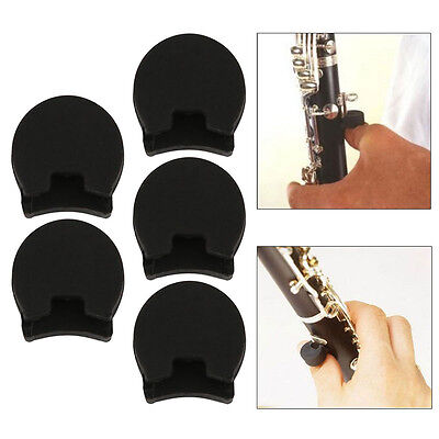 5PCS Finger Cover Rubber Clarinet/Oboe Thumb Rest Cushion Protector Comfortable
