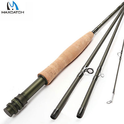 Maxcatch 3/4/5/6/8WT Medium-Fast IM8 Fly Fishing Rod & Plastic Rod Tube