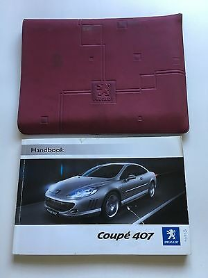 Peugeot 407 Coupe Genuine Owners Manual Users Handbook Pack 2005-2009