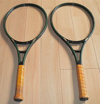 2 X PRINCE GRAPHITE OVERSIZE 4 STRIPE TENNIS RACQUETS grip size 2 (4 1/4)