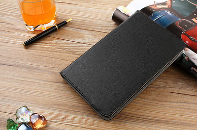 Black Leather tablet case adjustable for 7'' to 8'' IPAD ACER THINK PAD KINDLES