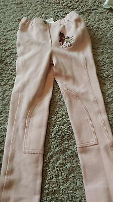 girls Horka horse riding trousers pink age XL 5/6 YRS