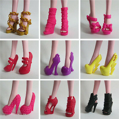2016 Hot Doll Accessories 5 pairs Shoes for Monster High Doll Party Gift