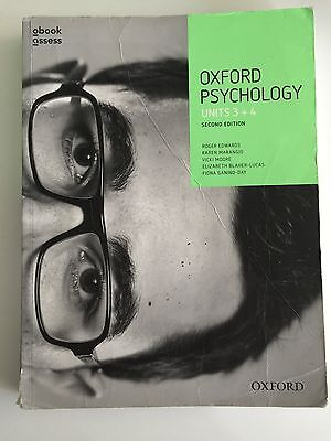 Oxford Psychology VCE Units 3 + 4  By Roger Edwards textbook AND Workbook
