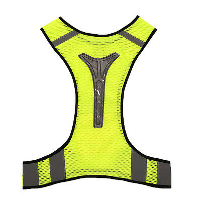 LED Safety Vest Jacket for Night Running Cycling Breathable High Visibility