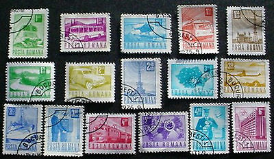 1971 Romania: Transport / Communications: Set Of 16 Used Stamps