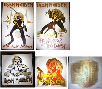 5x Vintage Iron Maiden T Shirt Transfers Good Condition