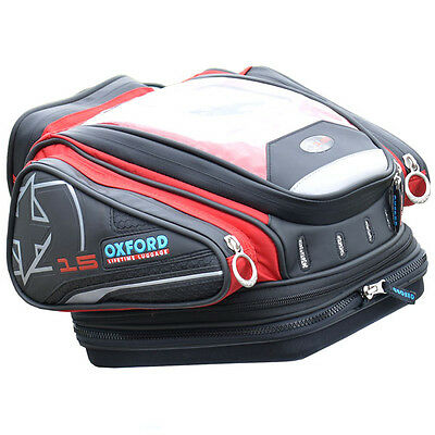 Oxford 2014 X15 QR Motorcycle Tank Bag (Red) ***Now £60.00***
