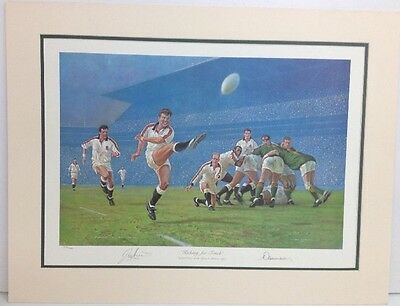 """Rugby """"Kicking For Touch"""" By Craig Campbell 374/500 Signed/Stamped Print"""
