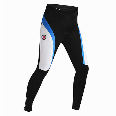 NEW 3D Padded Mens Trousers Cycling Winter Thermal Tights Pants Waist 32-34 inch
