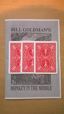 MONKEY IN THE MIDDLE Close Up Card Magic Trick See Video Demo