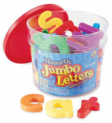 Learning Resources Jumbo Magnetic Lowercase Letters Set of 40 – NEW