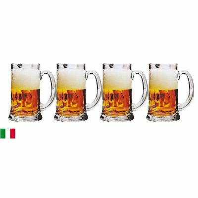 Circleware - Roadhouse 590ml Set of 4 Beer Mugs - Made in Italy