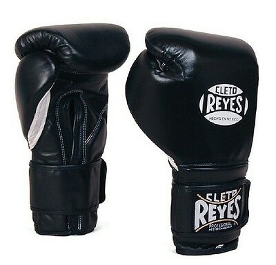 Authentic Cleto Reyes black leather 14oz sparring gloves
