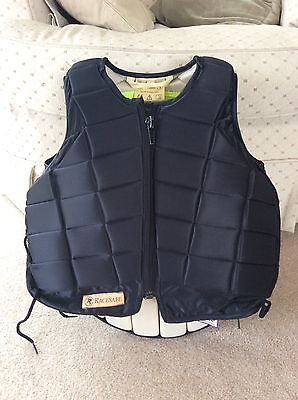 Childs Large Black  Racesafe Body Protector RS2010 Short Back