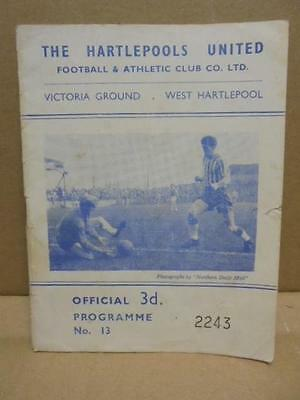 HARTLEPOOLS UNITED v ACCRINGTON STANLEY - FA CUP. 2ND ROUND - 1961