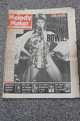 Melody Maker Magazine - September 29th 1973 - David Bowie Front Cover