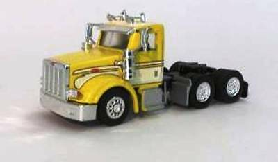 PETERBILT 367 TRUCK Dual axle Day Cab Yellow & White HO 1/87 Scale Promotex 6568