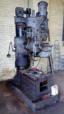 Industrial pillar drill and tools